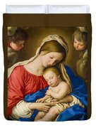 Madonna And Child Duvet Cover