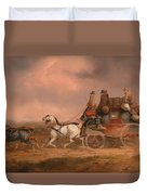 Mail Coaches On The Road Duvet Cover