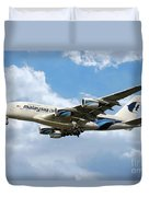 Malaysia Airlines Airbus A380 Duvet Cover