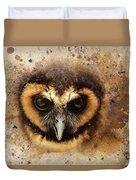 Malaysian Brown Wood Owl Duvet Cover