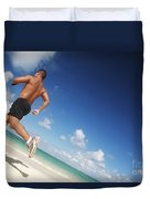 Male Beach Runner Duvet Cover by Brandon Tabiolo - Printscapes