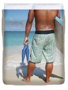 Male Bodyboarder Duvet Cover by Brandon Tabiolo - Printscapes