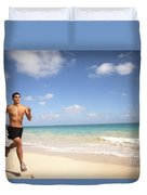 Male Runner Duvet Cover by Sri Maiava Rusden - Printscapes