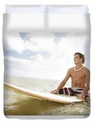 Male Surfer Duvet Cover by Brandon Tabiolo - Printscapes