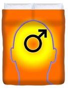 Male Symbol Duvet Cover