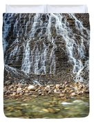 Cascades Of Maligne Canyon Duvet Cover