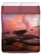 Mammoth Hot Springs Duvet Cover