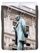 Manzoni Statue Duvet Cover