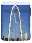 Margaret Hunt Hill Bridge In Dallas - Texas Duvet Cover