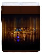 Marine At Night Duvet Cover