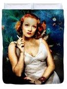Marlene Dietrich, Vintage Actress Duvet Cover