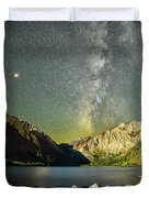 Mars And The Milky Way Duvet Cover