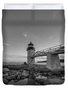 Marshall Point Lighthouse Reflections Duvet Cover