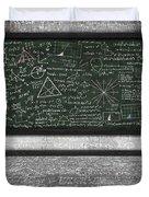 Maths Formula On Chalkboard Duvet Cover