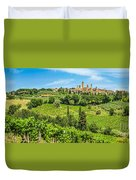 Medieval Town Of San Gimignano, Tuscany, Italy Duvet Cover