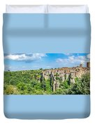 Medieval Town Of Vitorchiano In Lazio, Italy Duvet Cover
