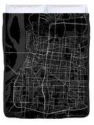 Memphis Tennessee Usa Dark Map Duvet Cover