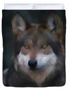 Mexican Grey Wolf Da Duvet Cover