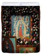 Mexico Our Lady Of Guadalupe Pilgrimage Duvet Cover