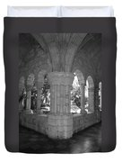 Miami Monastery In Black And White Duvet Cover