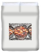 Michigan Apples Duvet Cover