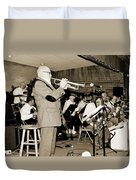 Mike Vax Professional Trumpet Player Photographic Print 3772.02 Duvet Cover