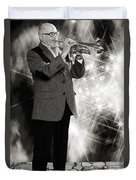 Mike Vax Professional Trumpet Player Photographic Print 3774.02 Duvet Cover