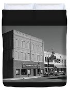 Miles City, Montana - Downtown 2 Bw Duvet Cover