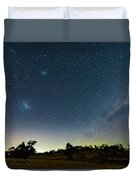 Milky Way And Countryside Duvet Cover