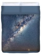 Milky Way And Mars Duvet Cover