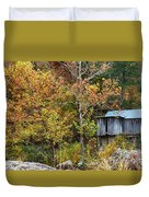 Mill In The Fall Duvet Cover