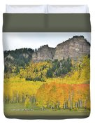 Million Dollar Highway Aspens Duvet Cover