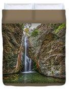 Millomeris Waterfall - Cyprus Duvet Cover