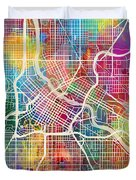 Minneapolis Minnesota City Map Duvet Cover