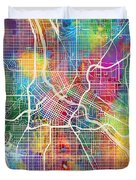 Minneapolis Minnesota City Map Duvet Cover