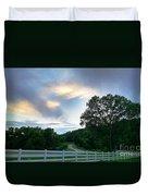 Minnesota Valley Sunset Duvet Cover