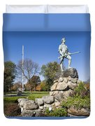Minute Man Sculpture Duvet Cover