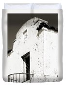 Mission Stucco Building Duvet Cover