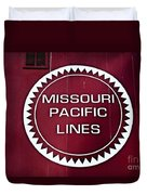 Missouri Pacific Lines Duvet Cover