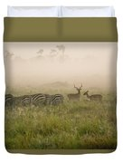 Misty Morning On The Savannah Duvet Cover