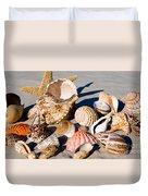 Mix Group Of Seashells Duvet Cover