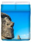 Moai Closeup Duvet Cover