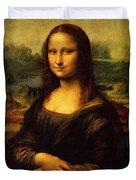 Mona Lisa Portrait Duvet Cover