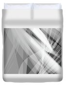 Monochrome White Abstract Vector Background, Gray Transparent Wa Duvet Cover