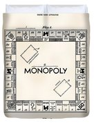 Monopoly Board Game Patent Art  1935 Duvet Cover