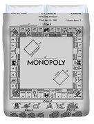 Monopoly Patent 1935 Duvet Cover