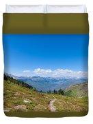 Montana-glacier National Park-highline Trail Duvet Cover