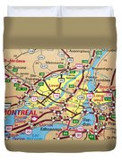 Montreal Map. Quebec. Duvet Cover