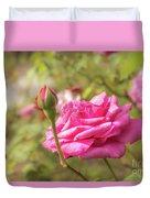 Moondrops 85 Hybrid Tea Rose, Pink Rose Originally Produced By  Duvet Cover