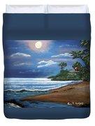 Moonlight In Rincon II Duvet Cover